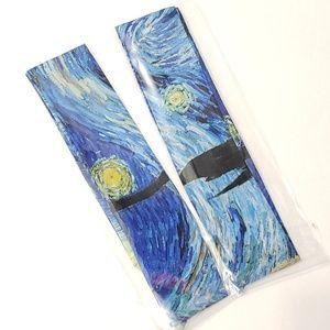 ⤵⤵2pcs Exquisite Starry Night Design Satin Twillys